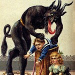 Krampus doling out justice for bad kids! Don't do it!