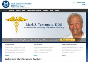 MarkYamamotoDental-TMJ.com Website Design