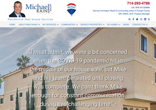 MIkeRains.com Website Design
