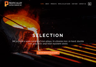 PacificAlloy.com Website Design