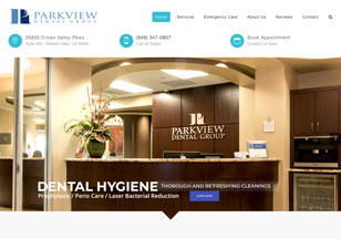 ParkviewMV.com Website Design
