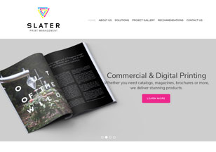 SlaterPrint.com Website Design