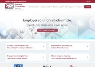 StrategicContractingServices.com Website Design